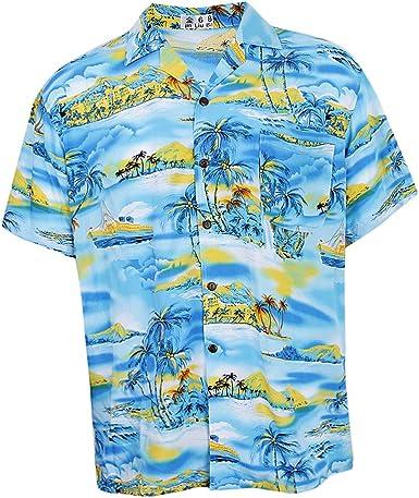 Baoblaze Camisa Hawaiana Macho Verano Playa Hombres Camiseta Hawaii Aloha Casa Ropa Fiesta: Amazon.es: Ropa y accesorios