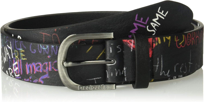 Desigual Cint_graffiti Wall Cinturón para Mujer