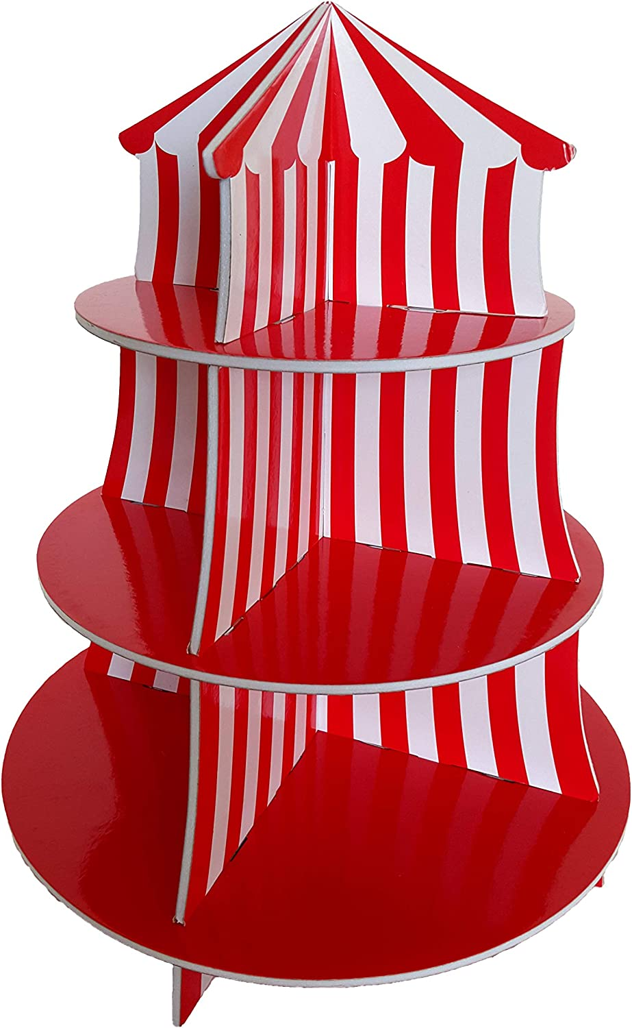 Big Top Circus Carnival 3 Tier Cupcake Holder Centerpiece Birthday Decorations - By Playscene (1 pc)
