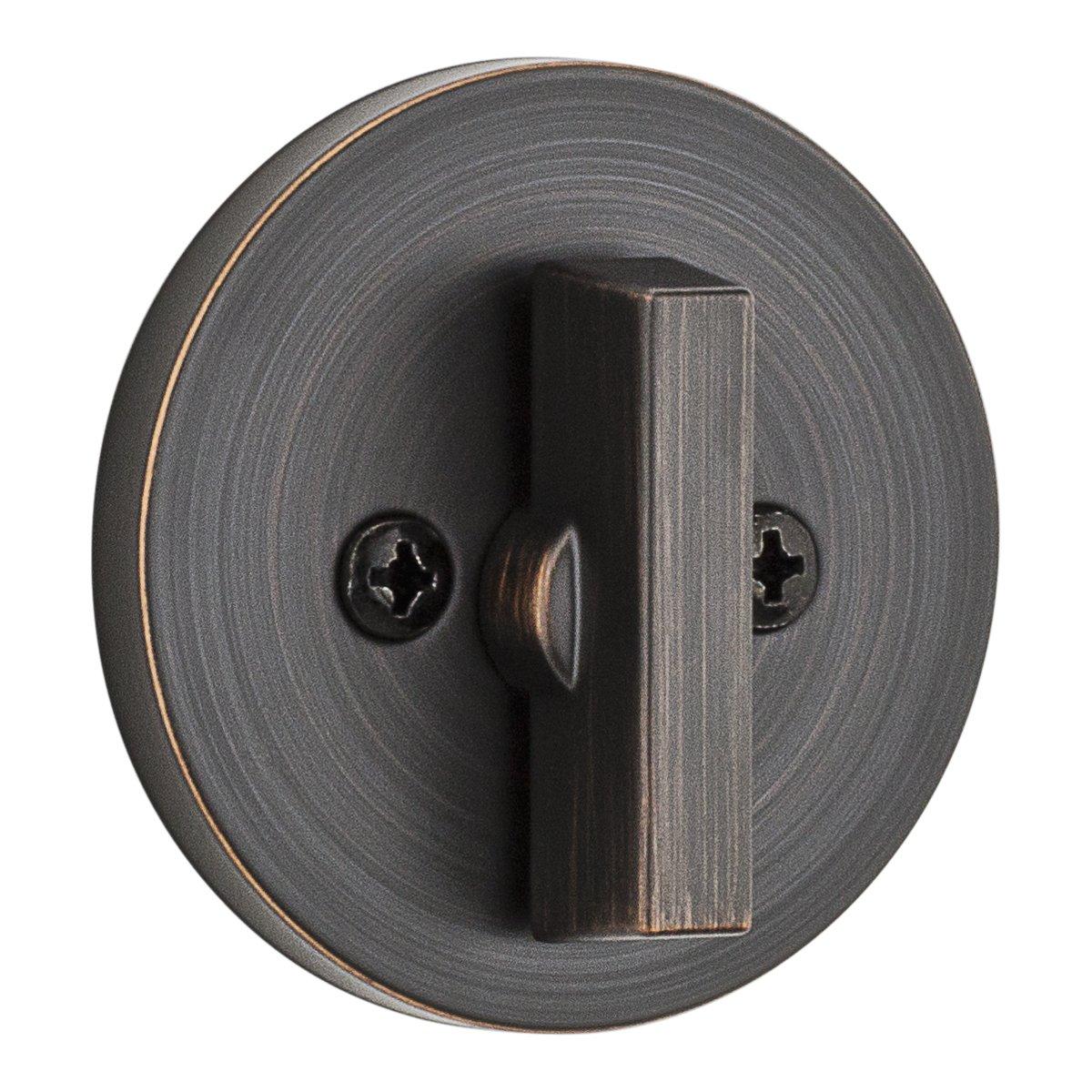 Kwikset 96600-679 Contemporary Single Cylinder Deadbolt Featuring Smartkey In Venetian Bronze