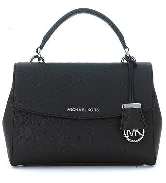 8857cad30b Sac à main Michael Kors Ava en cuir saffiano noir: Amazon.fr: Vêtements et  accessoires