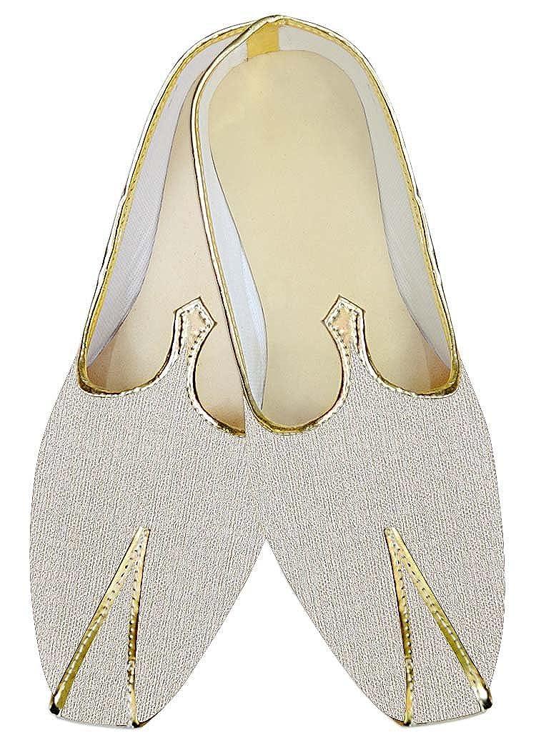 23c830ffbfd45 Amazon.com | INMONARCH Mens Indian Bridal Shoes Cream Jute Wedding ...