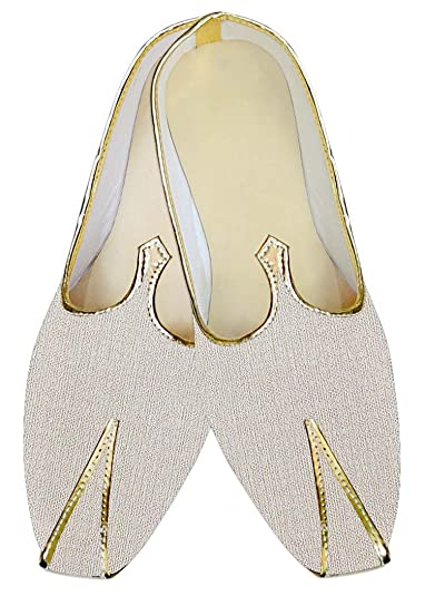 Mens Cream Jute Wedding Shoes Bollywood MJ013927