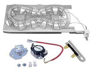 Siwdoy 3387747 & 279816 & 3392519 Dryer Heating Element Kit for Whirlpool & Kenmore Dryer