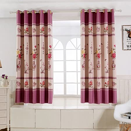 Classical Chinese Curtains Living Room Windows And Blackout Curtains  Insulated Short Corner Octagonal Windows Small Half