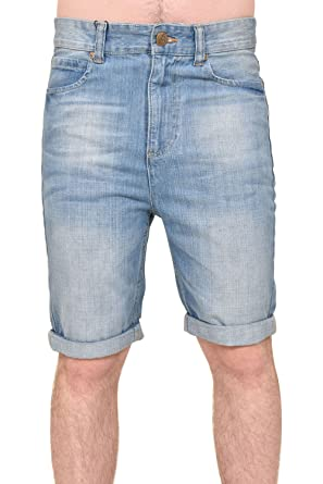 639764f2ac79 CrossHatch Herren Slim Fit Turn Up Ripped Denim Shorts  Amazon.de   Bekleidung
