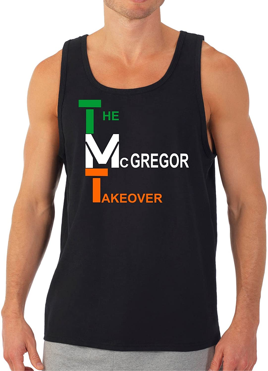 Conor McGregor McGregor Takeover Vertical Green-Orange 2 Tank Top