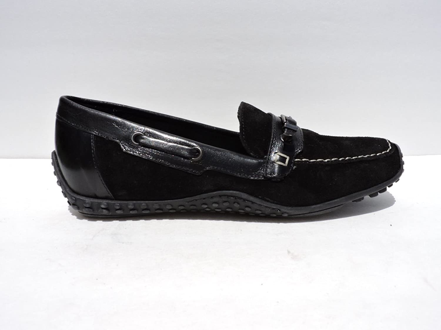 Sesto Meucci Womens Alcyon Black Suede Loafers Flats Slip-ons Size 5.5 M