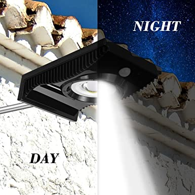 Garden Lamp LED Gutter Outdoor Solar Lights with Mounting Pole,Waterproof Security Patio Light YAYALE Solar Motion Sensor Light Motion Lights for Porch Garage