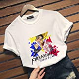 Bowinr Fire Emblem Three Houses T-Shirt, Round Neck Short Sleeve Anime T-Shirts for Lovers Men and Women