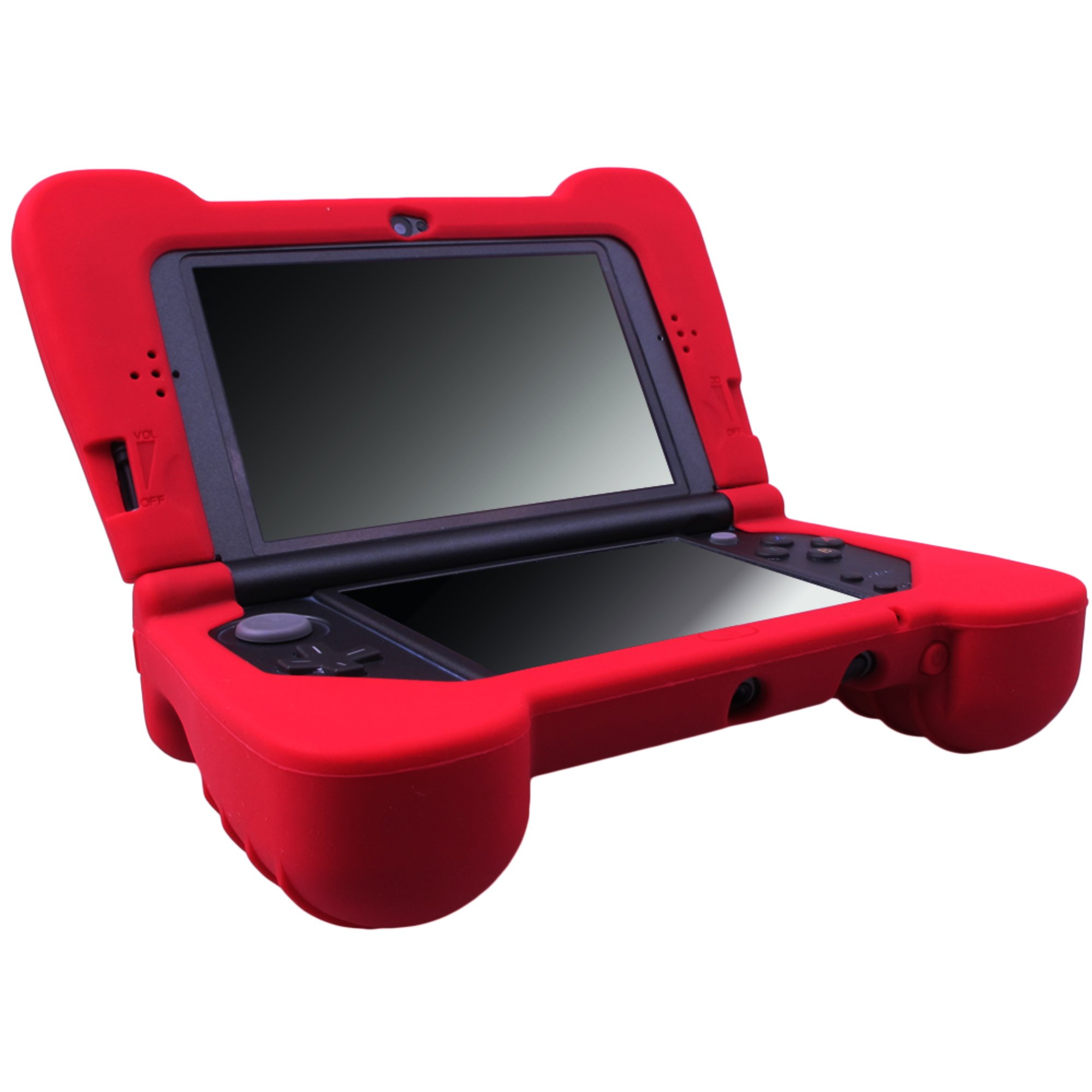 MXRC Silicone rubber cover skin case anti-slip Hand Grip Customize for Nintendo NEW 3DS XL x 1 Red