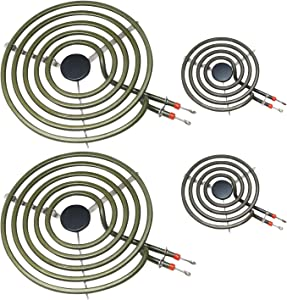 "POINWER MP22YA Electric Range Burner Element Unit Set 2- MP15YA 6.5"" 2- MP21YA 8"" for Hardwick & Jenn Air & Kenmore & Maytag & Norge & Whirlpool Electric Range Stove"
