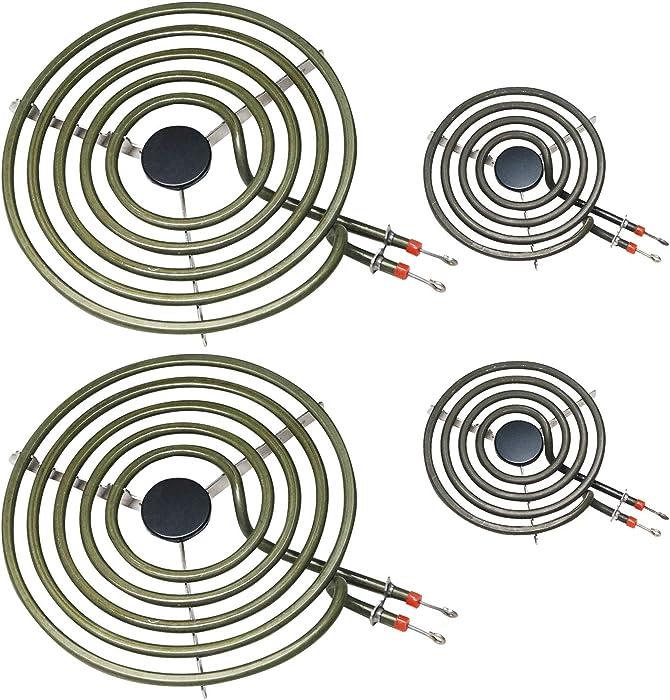 """POINWER MP22YA Electric Range Burner Element Unit Set 2- MP15YA 6.5"""" 2- MP21YA 8"""" for Hardwick & Jenn Air & Kenmore & Maytag & Norge & Whirlpool Electric Range Stove"""