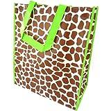 Les Trésors De Lily [K3476] - Sac Shopping 'Passion Girafe' marron vert