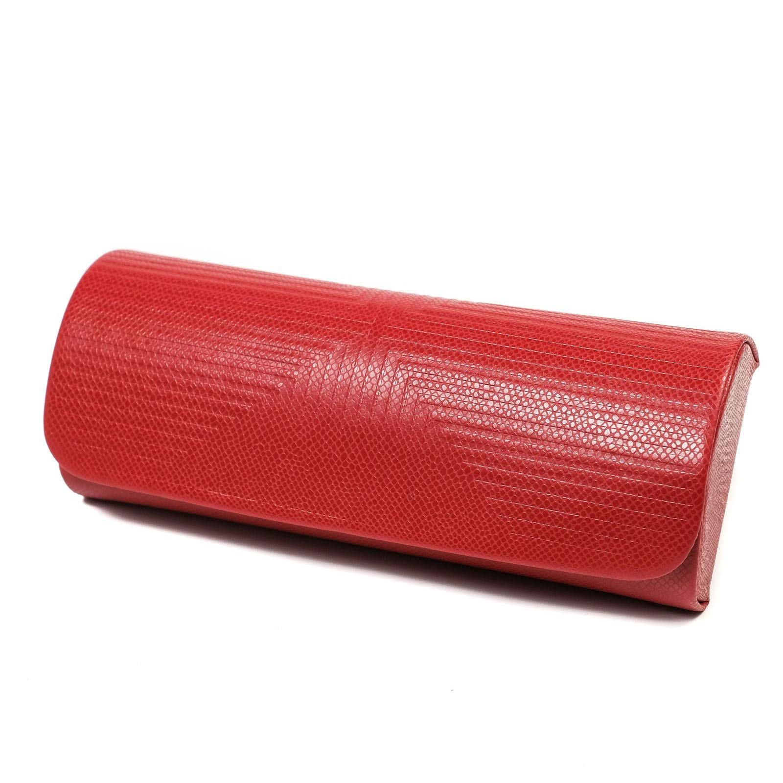 Handmade Russian Glasses case red, on a solid basis, covered with artificial leather by RuPost