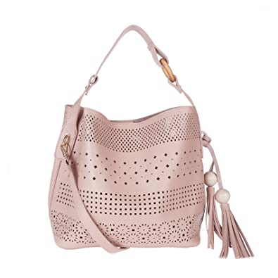 ecf632e410b FUR JADEN Women s PU Pink Sling Bag  Amazon.in  Shoes   Handbags