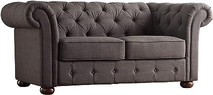 Sensational Amazon Com Rabinyod Bulan Linen Loveseat Gray Sofa Gamerscity Chair Design For Home Gamerscityorg