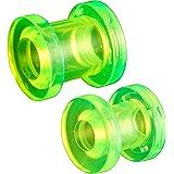 oreille elargisseur flesh plug tunnel écarteur 6mm 7mm bijouterie piercing acrylique grossiste 2 Paires FQHM