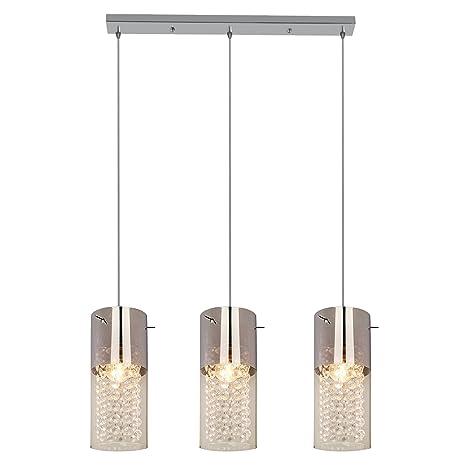 Light Prestige Zara 3 - Lámpara de techo, cristal, E27, 60 W ...