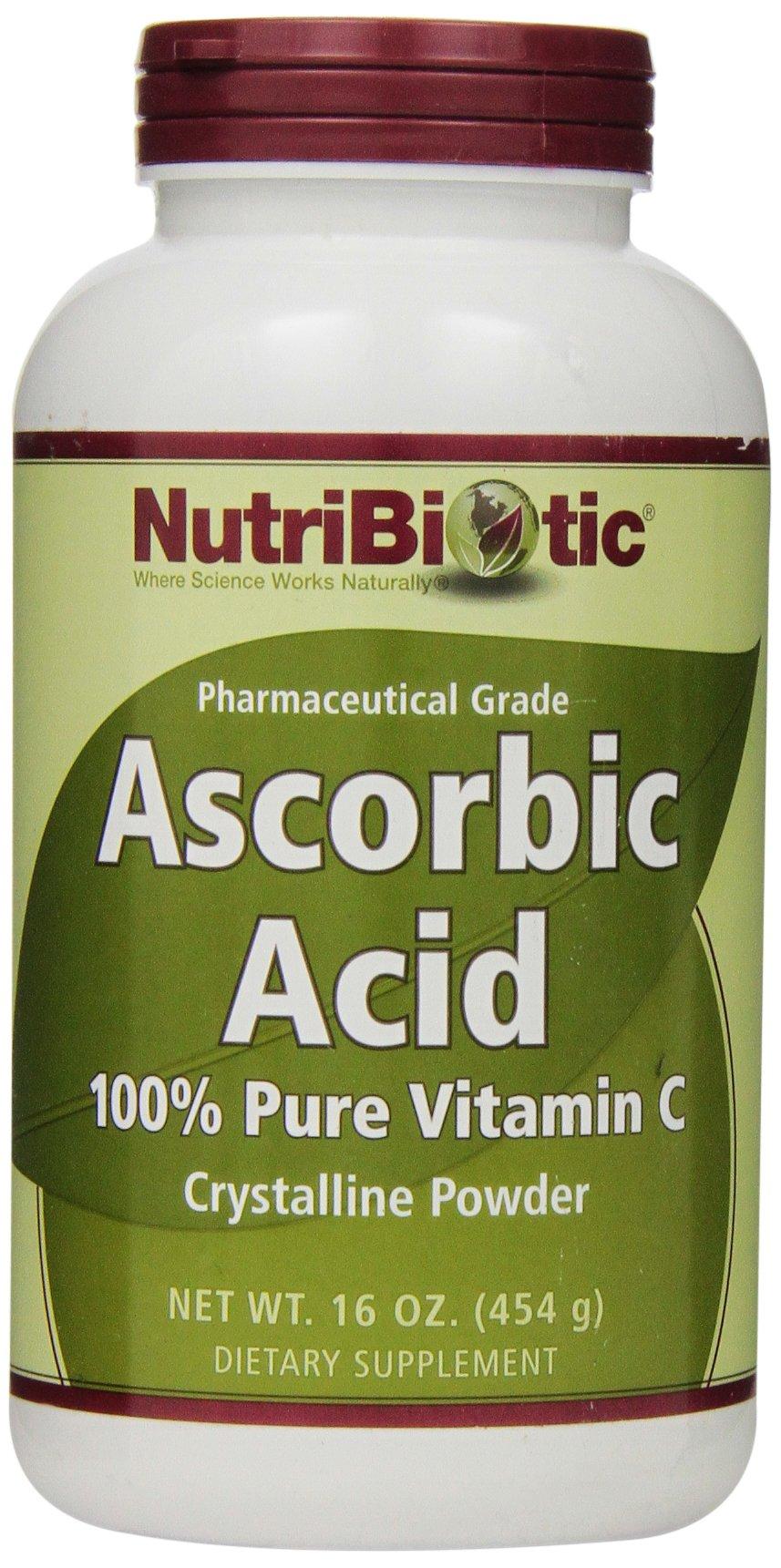 Nutribiotic Ascorbic Acid Powder, 16 Ounce