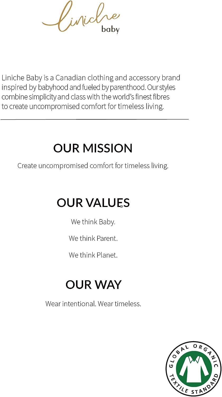 Unisex Solid Footed Onesie Bodysuit Liniche Baby GOTS Certified 100/% Organic Cotton Interlock