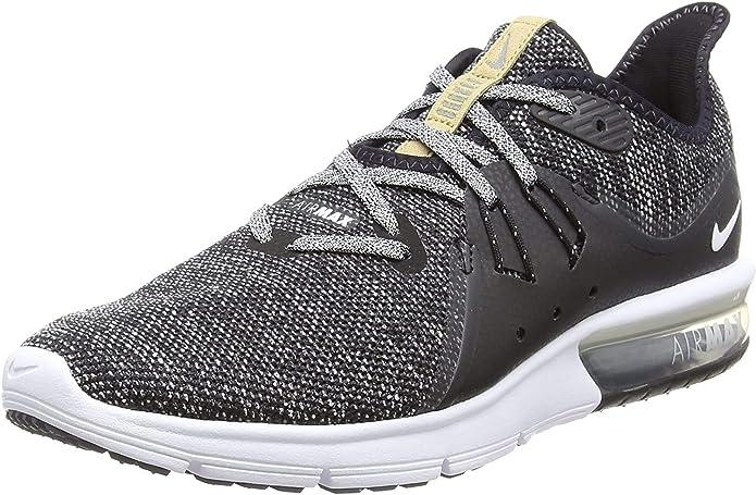 Descarga vaso presentar  Amazon.com | Nike Men's, Air Max Sequent 3 Running Sneaker Black Grey 14 M  | Road Running