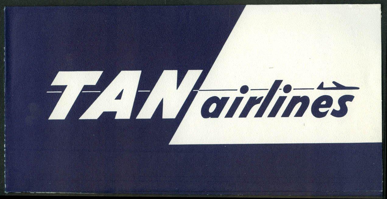 Amazon.com: Transportes Aéreos Nacionales TAN Airlines airline ticket wrapper wallet unused: Entertainment Collectibles