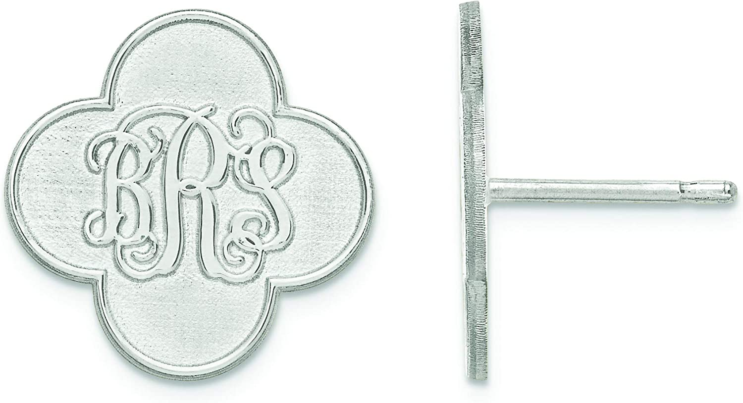 14kw Clover Monogram Post Earrings