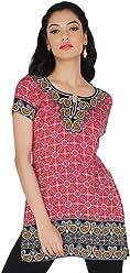 Women Fashion Casual Short Indian Kurti Tunic Kurta Top Shirt Dress 74A