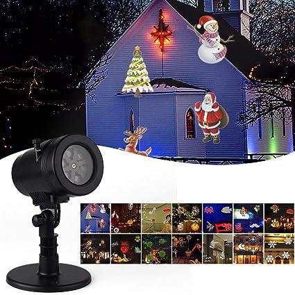 Amazon.com: LED Proyector de luz,, Mover Proyector Giratorio ...