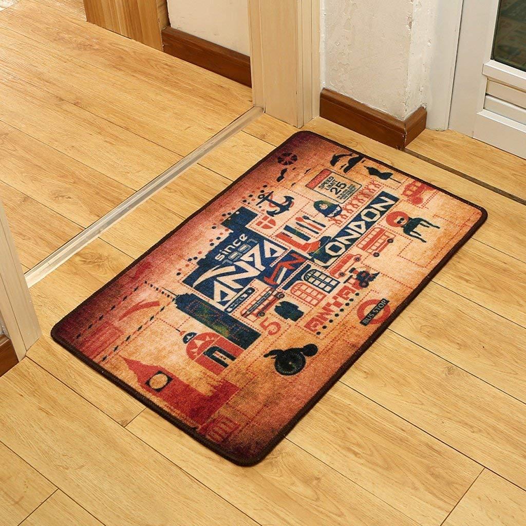 FEI Alfombra Fashion Mats Moderno Japón y Corea del Sur Grabado Puerta de Entrada Baño Cocina Antideslizante Alfombra Absorbente,50 * 80cm