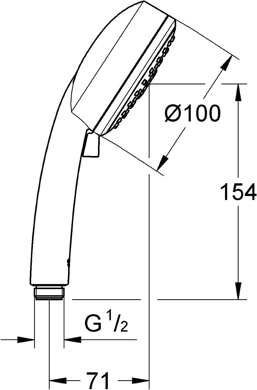 GROHE 35053001 Groh flex Shower Set Pressure Balance Valve Chrome 1.75 Gym