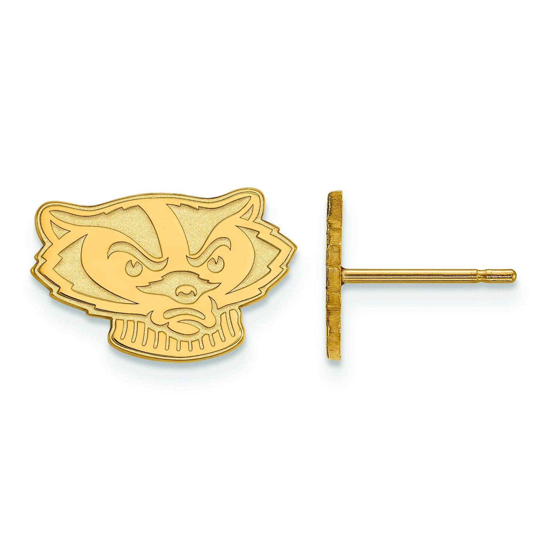 ウィスコンシン州Extra Small ( 3 / 8インチ)ポストイヤリング( 10 Kホワイトゴールド)   B01J014KNM