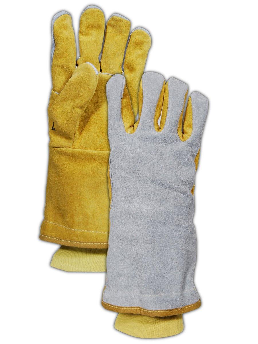 Standard White MAGID T1755 WeldPro Side Split Cow Leather Welding Gloves 12 Pair