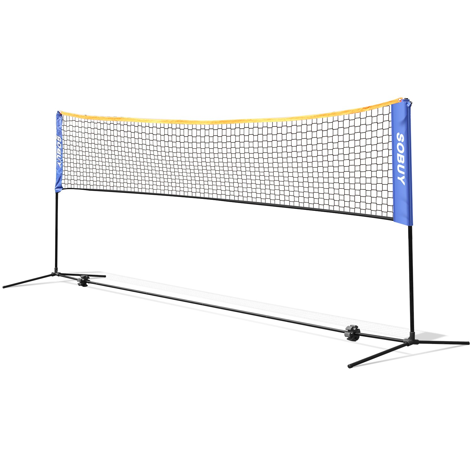 FEMOR Portable Badminton Tennis Combo Set, Height Adjustable Net Stand with Carrying Bag and Accessories for Family Sport Outdoor Games