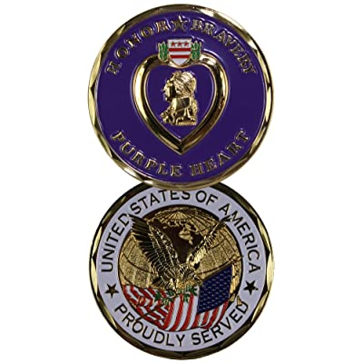 Purple Heart Challenge Coin-Eagle Crest 2263: Industrial & Scientific