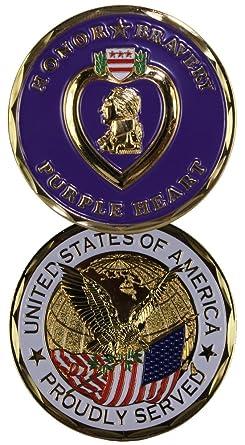 Amazon.com: Corazón Púrpura Challenge coin-eagle Crest 2263 ...