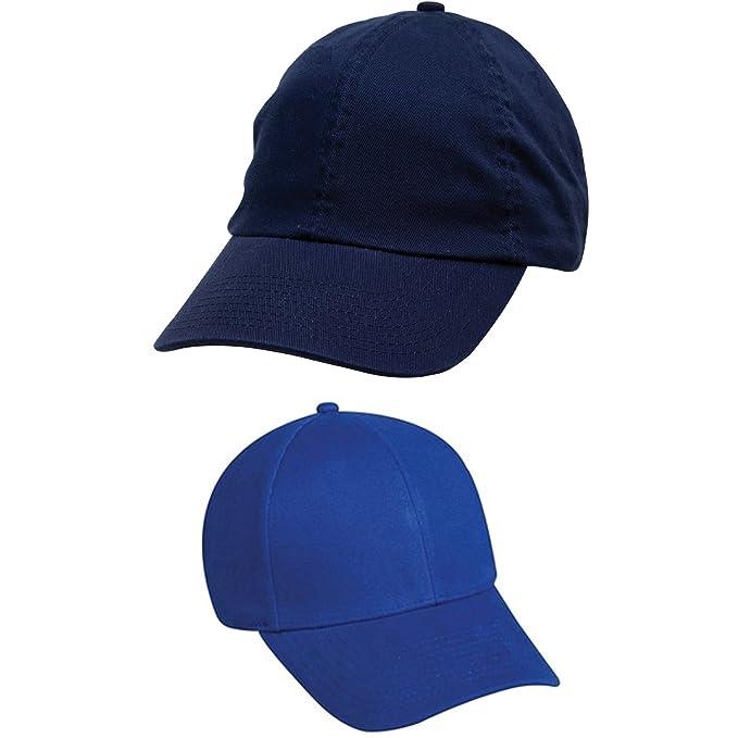 Pack Of 2 Navy Blue And Royal Blue Baseball Cap Amazonin Clothing