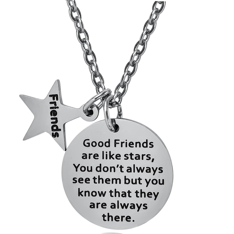 BESPMOSP - Colgante de acero inoxidable con citas de amistad ...