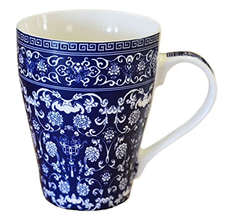 Amazoncom Blue And White Porcelain Coffee Mug Tea Cup China