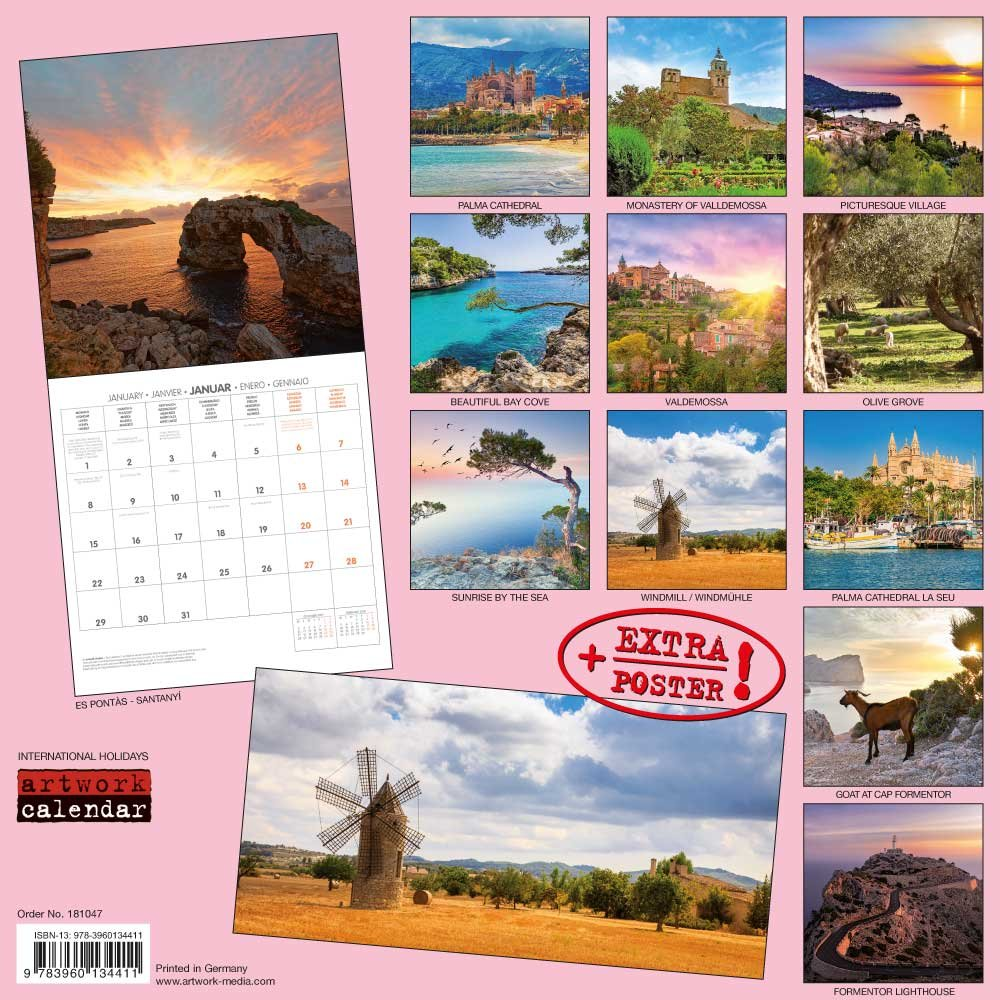 Mallorca 2018: Kalender 2018 (Artwork Edition)