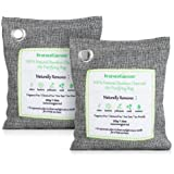 InnoGear 100% Natural Bamboo Charcoal Air Purifying Bag Car Air Freshener Deodorizer Odor Eliminator Neutralizer Smell Absorber Removal Dehumidifier for Room Home Closet Bathroom Pet Area, Pack of 2