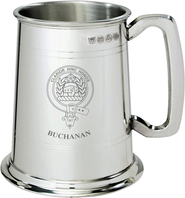 Chicago Mall Buchanan Clan New sales Crest Tankard 1 Pint Pewter