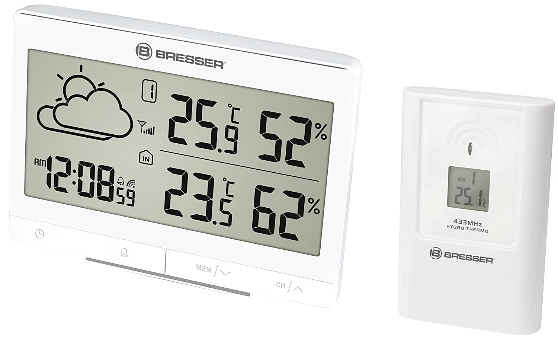 Bresser Estación meteorológica Temeo Trend lgx con Sensor ...