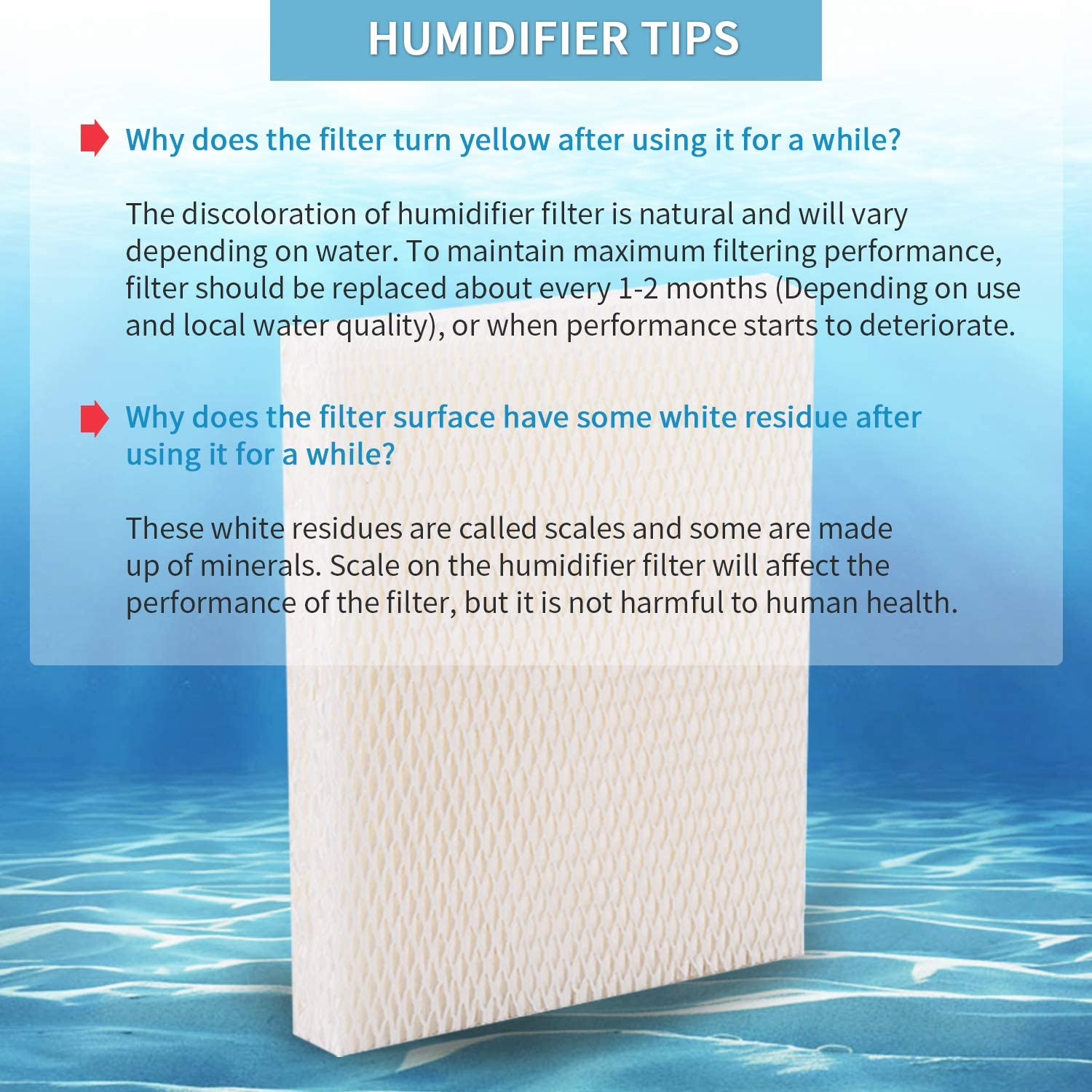 Fits Honeywell HEV615 HEV620 HEV615B HEV615W HEV620B HEV620W Cool Mist Humidifier BTNTVEN 4 Pack of Humidifier Replacement HFT600 Filter T for Honeywell HEV615 and HEV620 Humidifiers