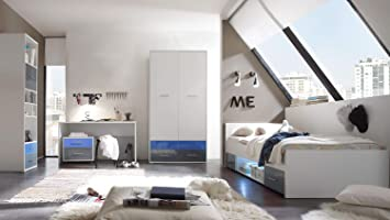 Mobel Akut Jugendzimmer Komplettset Colori Bett Schrank