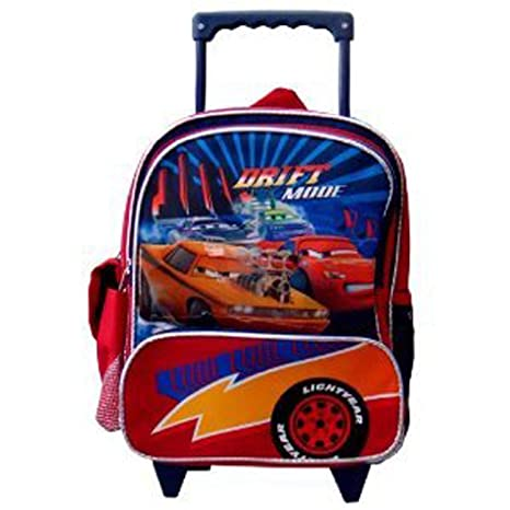 f559e0f3e280 Amazon.com  Cars Small Roller Backpack- Disney Cars Mcqueen Rolling Backpack  ( kid size)  Sports   Outdoors
