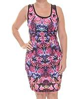 Rampage Womens Juniors Printed Bodycon Tank Dress