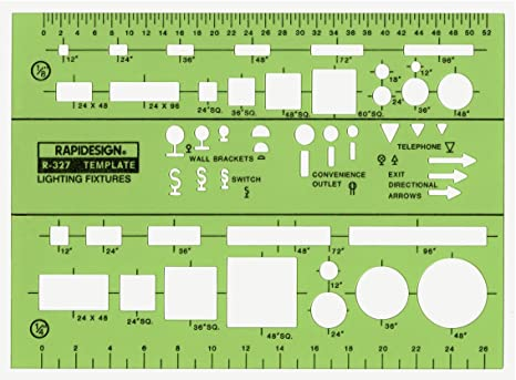 Electric Public Utilities Berol Rapidesign Template R-45