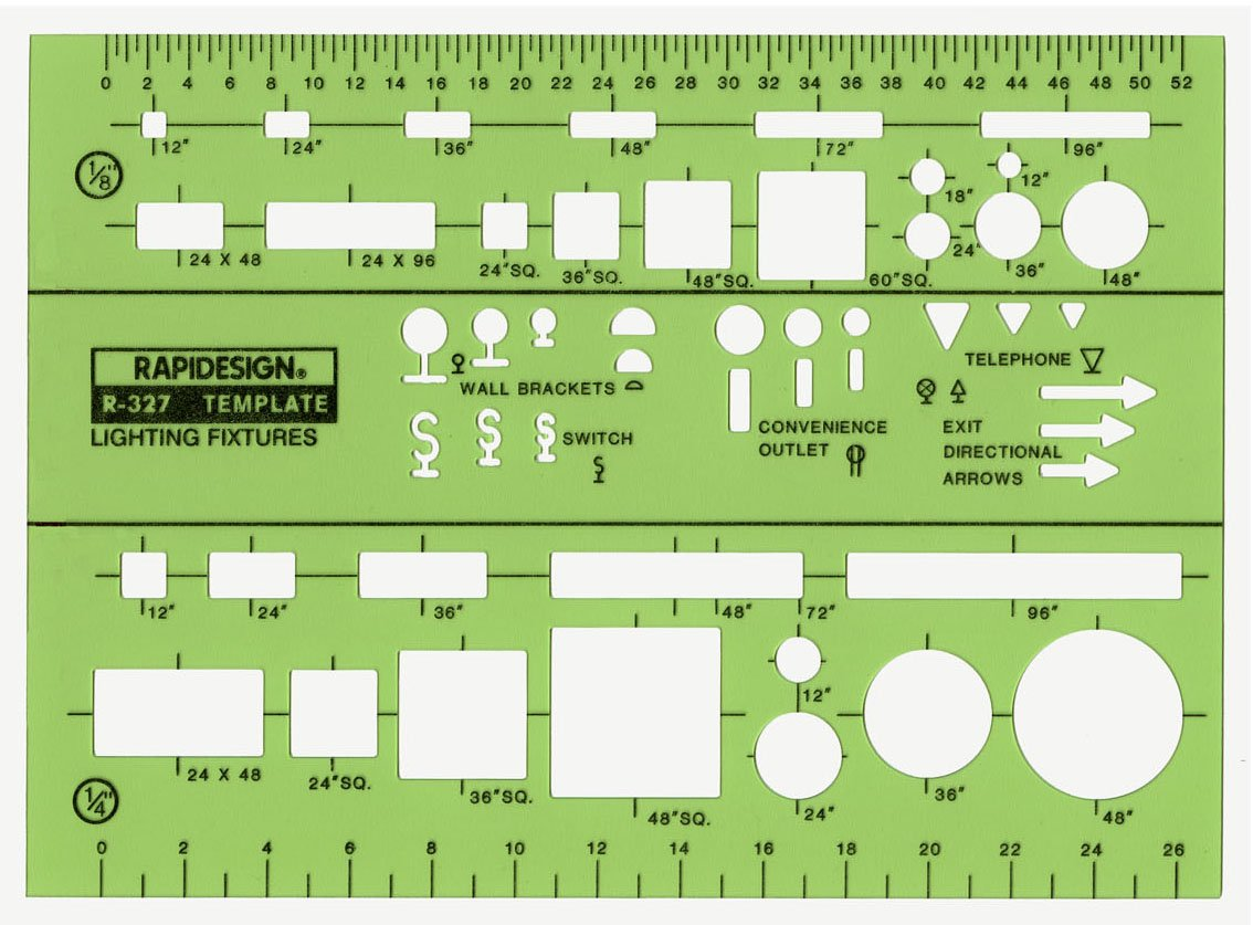 Rapidesign Lighting Fixtures Template, 1 Each (R327) by RAPIDESIGN